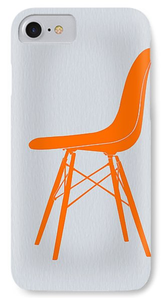 Eames Fiberglass Chair Orange IPhone Case by Naxart Studio
