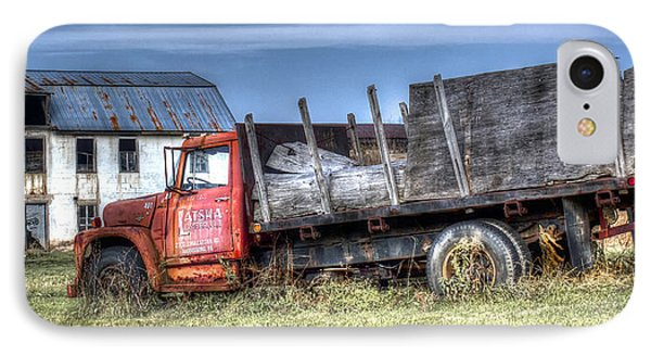 IPhone Case featuring the photograph Earl Latsha Lumber Company - Version 1 by Shelley Neff