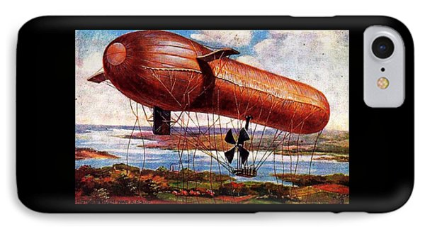 Early 1900s Military Airship IPhone Case by Peter Gumaer Ogden