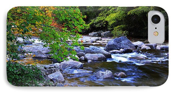 Early Autumn Along Williams River Phone Case by Thomas R Fletcher