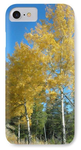Early Autumn Aspens IPhone Case by Gary Baird