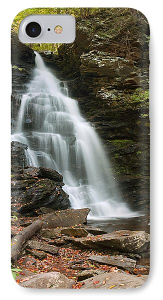Early Autumn Morning Below Ozone Falls IPhone Case by Gene Walls
