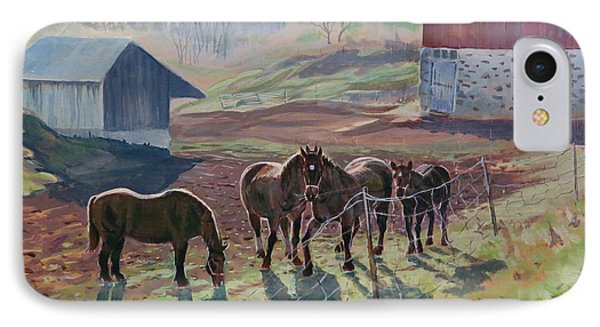 Early December At The Farm IPhone Case by David Gilmore