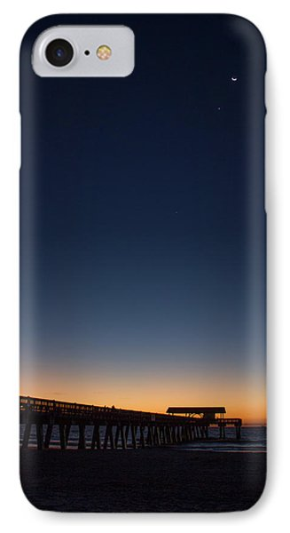 Early Light Tybee Island Pier Tybee Island Georgia IPhone Case by Reid Callaway