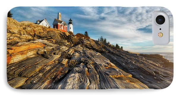 IPhone Case featuring the photograph Early Morning At Pemaquid Point by Darren White