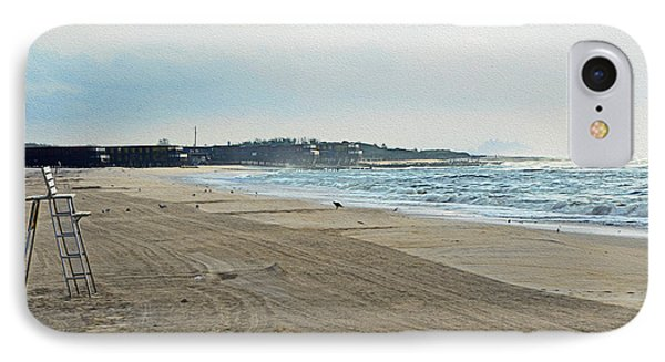 Early Morning Beach Silver Gull Club IPhone Case by Maureen E Ritter