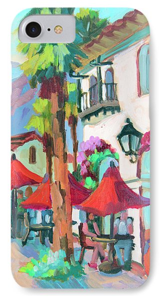 IPhone Case featuring the painting Early Morning Coffee In Old Town La Quinta 2 by Diane McClary