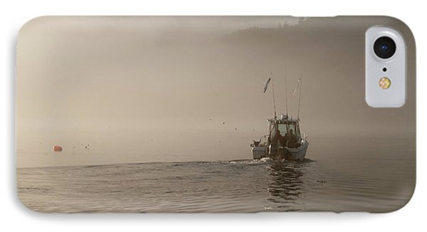 Early Morning Fishing Boat Phone Case by Chad Davis