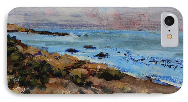 IPhone Case featuring the painting Early Morning Low Tide by Walter Fahmy