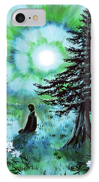 Early Morning Meditation In Blues And Greens IPhone Case by Laura Iverson