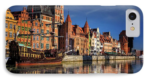 Early Morning On The Motlawa River In Gdansk Poland IPhone Case by Carol Japp