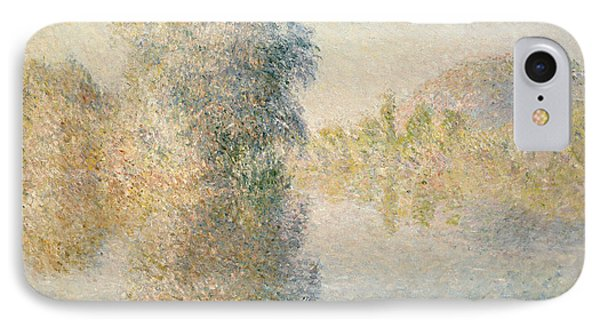 Early Morning On The Seine At Giverny Phone Case by Claude Monet