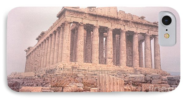 IPhone Case featuring the photograph Early Morning Parthenon by Nigel Fletcher-Jones