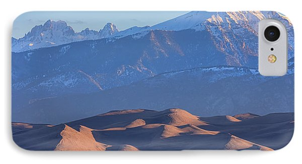 Early Morning Sand Dunes And Snow Covered Peaks IPhone Case by James BO Insogna