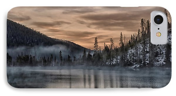 Early Morning Yellowstone IPhone Case by CR  Courson
