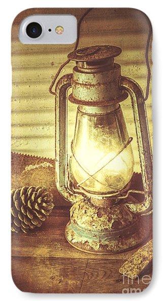 Early Settler Oil Lamp IPhone Case