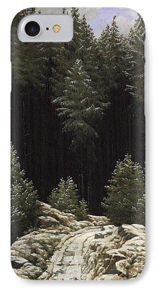 Early Snow Phone Case by Caspar David Friedrich