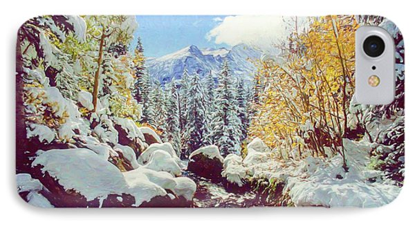 IPhone Case featuring the photograph Early Snow by Eric Glaser