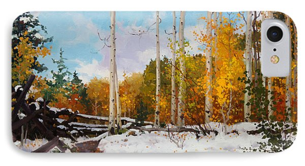 Early Snow Of Santa Fe National Forest IPhone Case by Gary Kim