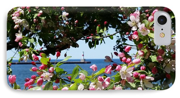 Early Spring Blossoms At The Waterfront IPhone Case by Wendy Shoults