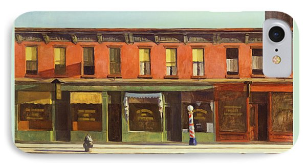 Early Sunday Morning IPhone Case by Edward Hopper