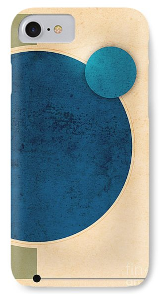 Earth And Moon Graphic Phone Case by Phil Perkins