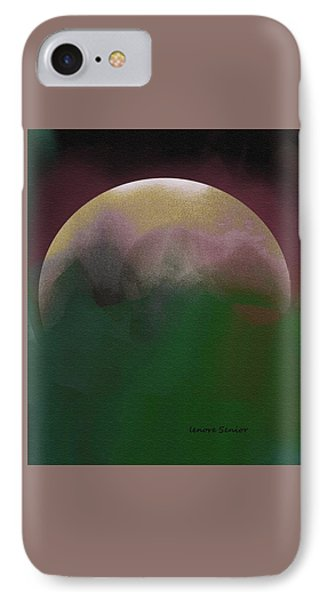 Earth And Moon IPhone Case by Lenore Senior