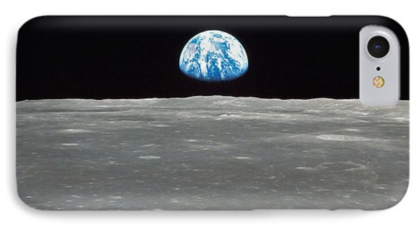 Earth And The Moon Phone Case by Stocktrek Images