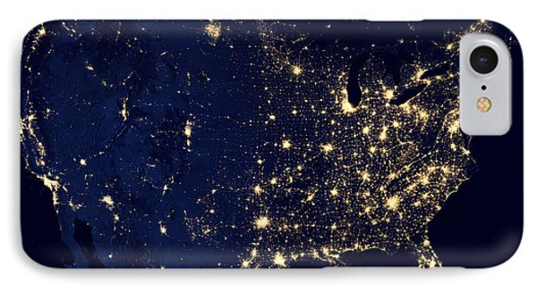 Earth At Night IPhone Case by Edward Fielding