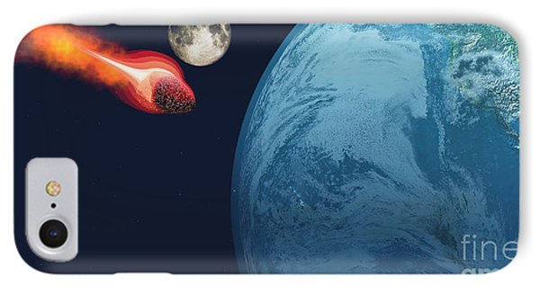 Earth Hit By Asteroid Phone Case by Corey Ford