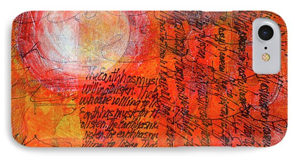 IPhone Case featuring the mixed media Earth Music by Nancy Merkle
