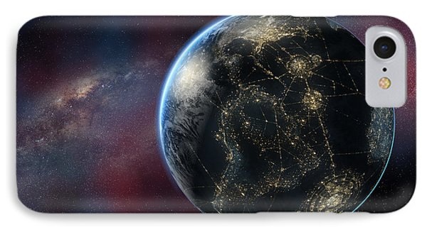 Earth One Day IPhone Case by David Collins