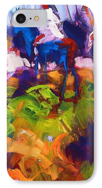 IPhone Case featuring the painting Earth People by Les Leffingwell