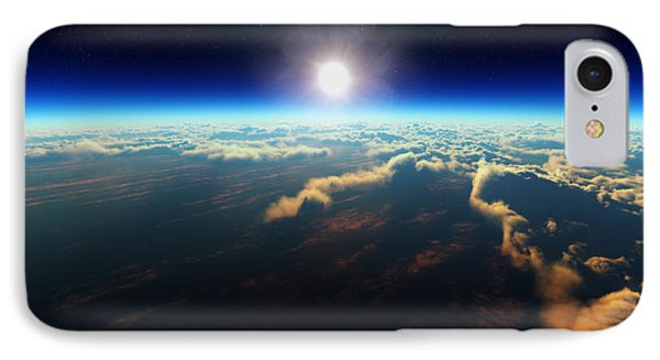 Earth Sunrise From Outer Space IPhone Case