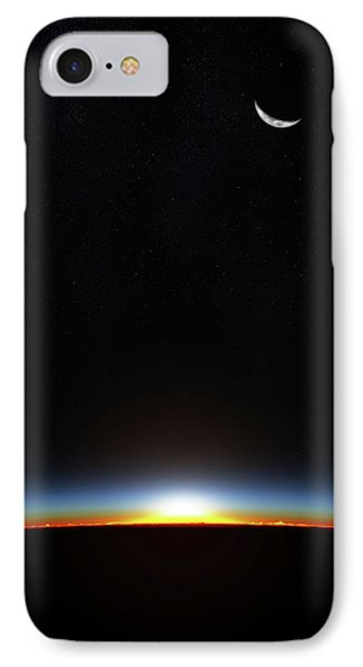 Planets iPhone 7 Case - Earth Sunrise Through Atmoshere by Johan Swanepoel