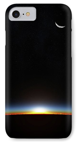 Earth Sunrise Through Atmoshere IPhone Case by Johan Swanepoel