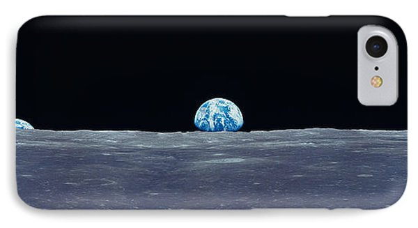 Earth Viewed From The Moon IPhone Case by Panoramic Images