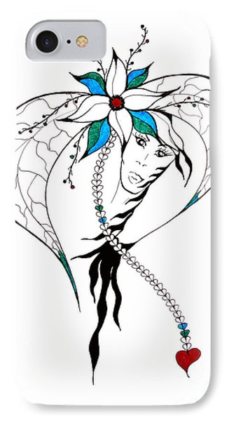 Earth Woman 8 IPhone Case by Valentina Miletic