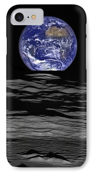 Earthrise IPhone Case by Mark Kiver