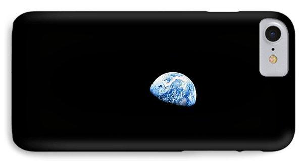 Earthrise - The Original Apollo 8 Color Photograph IPhone Case by Nasa