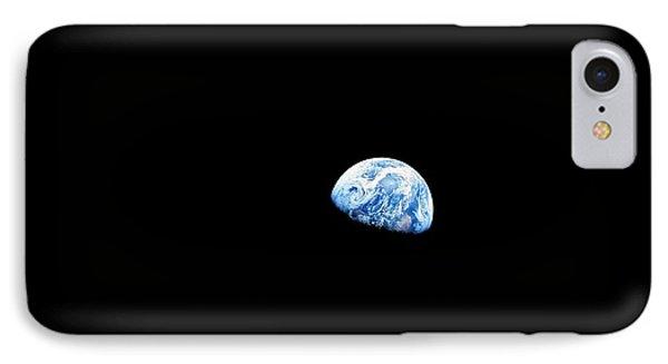 Earthrise Over Moon, Apollo 8 IPhone Case by Nasa