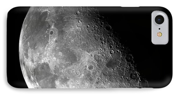 Earth's Moon In Black And White IPhone Case by Jennifer Rondinelli Reilly - Fine Art Photography