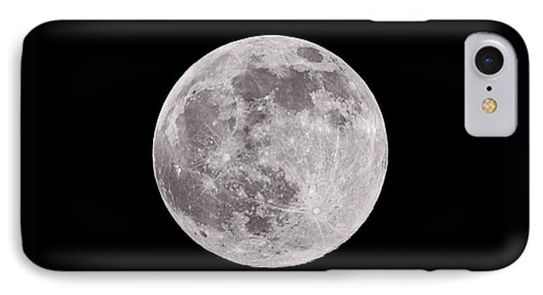 Earth's Moon IPhone Case by Steve Gadomski