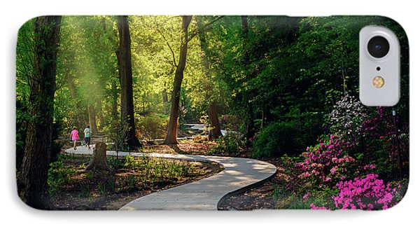Earyl Morning Walk Through Honor Heights Park IPhone Case by Tamyra Ayles