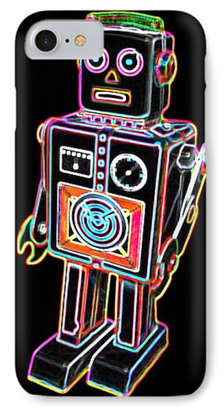 Easel Back Robot IPhone Case by DB Artist