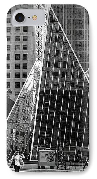 East 42nd Street, New York City  -17663-bw IPhone Case