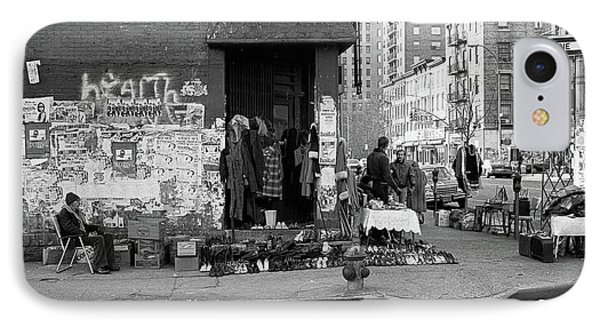 IPhone Case featuring the photograph East 7th Street 1979 by Dave Beckerman