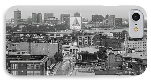 East Cambrdige Boston Skyline Aerial Citgo Sign Photo IPhone Case by Paul Velgos