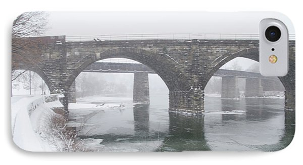East Falls In Winter IPhone Case by Bill Cannon