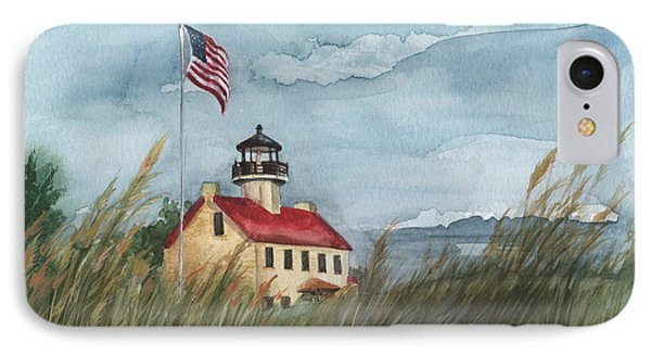 East Point Lighthouse IPhone Case by Nancy Patterson